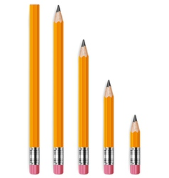 Pencils different lengths v vector
