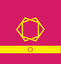 pink yellow color unique frame vector image