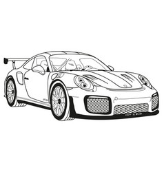 Porsche gt2 rs vector