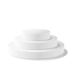 Round podium pedestal isolated on white background vector