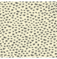 Seamless doodle stars pattern vector