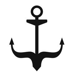 Ship anchor icon simple style vector