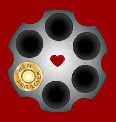 Shot bullets saint valentine isolated on white vector