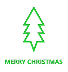 simple christmas tree cut from paper vector image