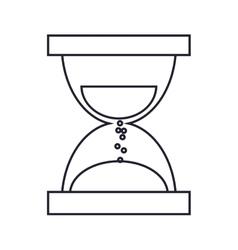 Single hourglass icon vector