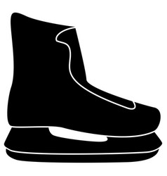 skate icon black color flat style simple image vector image