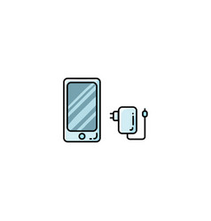 smartphone phone charge outline icon vector image