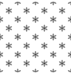 Snowflake pattern simple style vector image