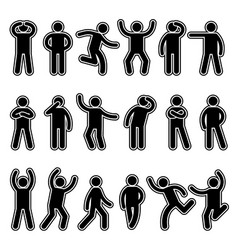 stick figures human silhouettes pictogram action vector image