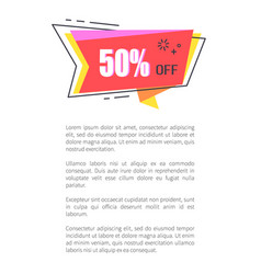 super sale promo sticker in half price off poster vector image