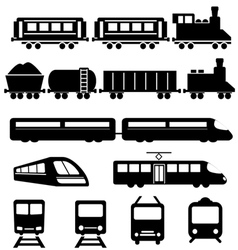 Train subway and railways vector image vector image