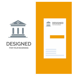 University bank campus court grey logo design and vector