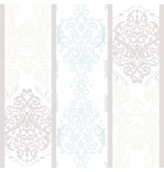 Vintage damask floral ornament pattern vector image