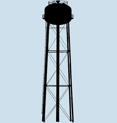water tower silhouette vector image