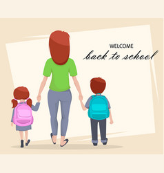 welcome back to school poster or flyer vector image