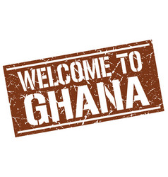 Welcome to ghana stamp vector