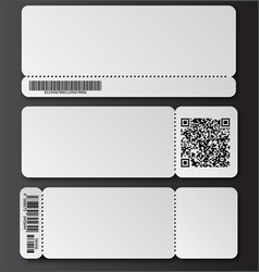 White ticket template with tear-off element vector