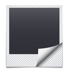 black frame with checkered paper vector image