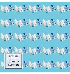 Boiler seamless pattern design vector image vector image