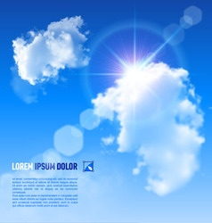Clouds Sun V 002 01 vector image