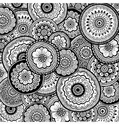 Nature ornamental background Mehndi style vector image
