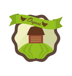 organic food fresh nutrition emblem vector image vector image