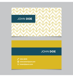 business card pattern yellow 02 vector image vector image