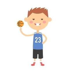 Cartoon basketball young boy vector image