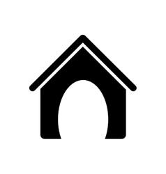 dog house pet accesory vector image