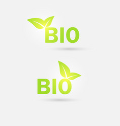 ecology bio icon vector image