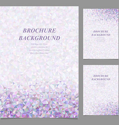 Modern abstract brochure template design vector image