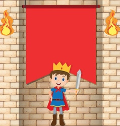 Prince and red banner vector image