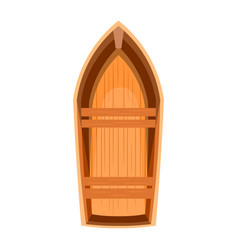 topview of a wooden boat vector image vector image