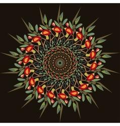 abstract circular pattern apple-tree vector image