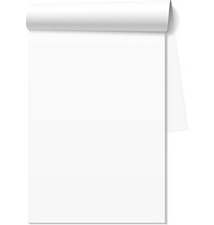 Blank white notepad notebook vector image vector image