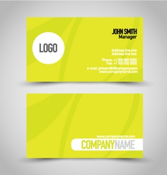 Business card set template bright green color vector
