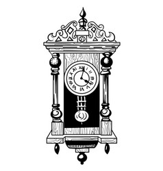 Cartoon image of old clock vector