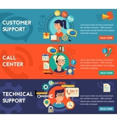 Customer and Technical Support Call Center vector image