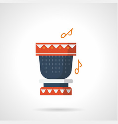 Percussion instrument flat color icon vector