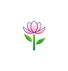 beauty flower tree logo vector image vector image