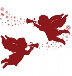 christmas angels vector image vector image