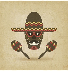 Concept for day of the dead sugar skull in vector