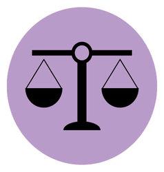Scale icon balance vector image