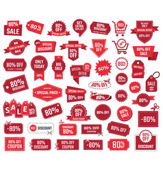 special offer 80 percent sale banners and coupons vector image