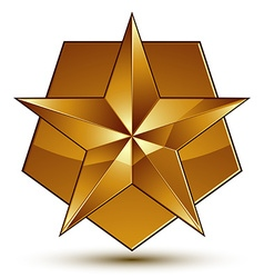 3d classic royal symbol sophisticated golden star vector