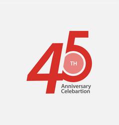 45 th anniversary celebration template design vector