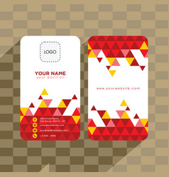 abstract geometry business card vector image