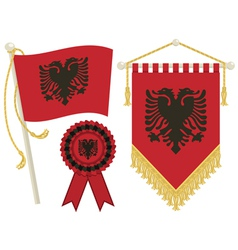 albania flags vector image