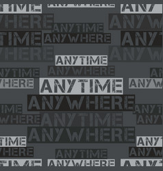 Anytime anywhere pattern vector