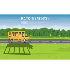 Back to School Yellow Racing School Bus vector